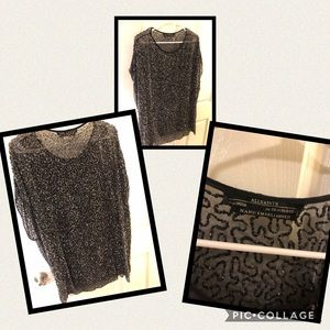All Saints hand beaded tunic size 10